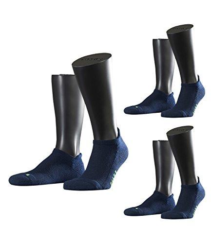 FALKE Unisex Sneaker Laufsocken Sportsocken Cool Kick 16609 3 Paar, Farbe:Blau, Größe:44-45, Artikel:-6120 marine