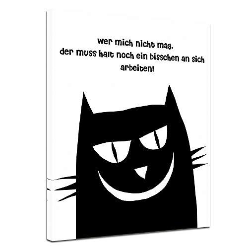 Leinwandbild mit Spruch - Arbeiten - 90x120 cm - Sprüche und Zitate - Kunstdruck mit Sprichwort - Vers - Bild auf Leinwand - Bilder als Leinwanddruck