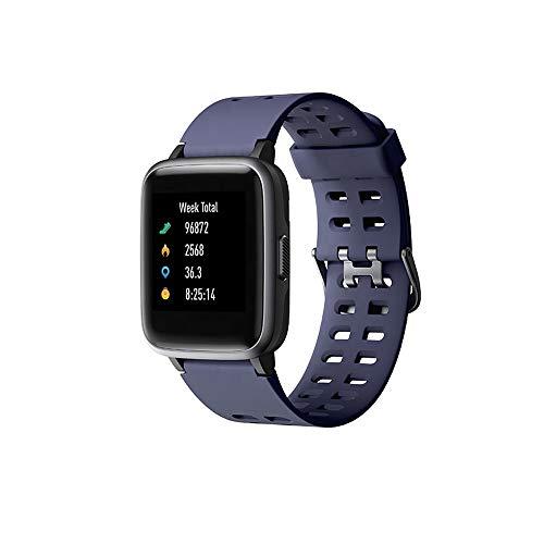HJL Intelligente Orologio per Donna Android Uomini telefoni compatibili iPhone IP68 Impermeabile Orologio Sportivo Fitness Tracker cardiofrequenzimetro Orologio Digitale,Blu