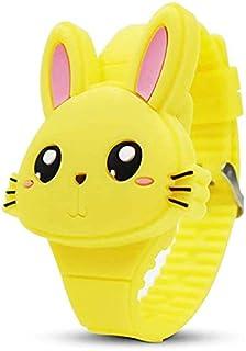 Sweelive orologio da polso in silicone a forma di coniglio orologio da polso a conchiglia orologio digitale per bambini ra...