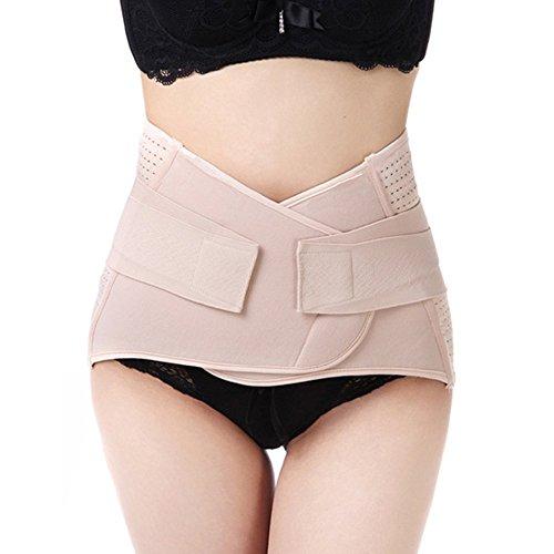 WANYI Faja Postparto Reductora Cintura Moldeadora 95CM Faja Mujer Reductora Posparto con Velcro Transpirable Elástica para Mujer y Maternidad Recuperación