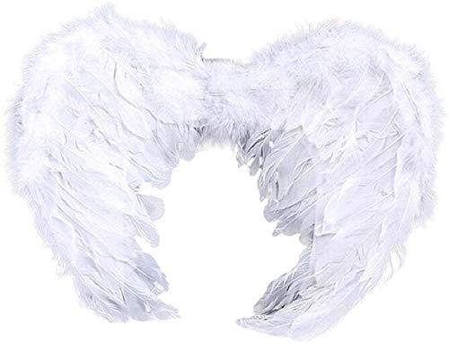 Inception Pro Infinite Ali Angelo Bambini in Piume Bianco - Halloween - Carnevale - Servizi fotografici - Natale - Idea Regalo Originale - Misura 44 x 31 cm