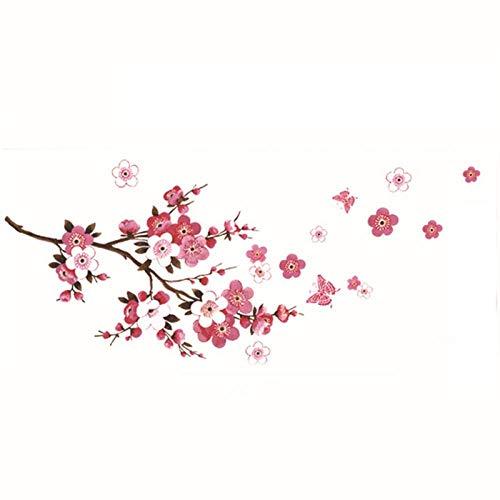 Wandaufkleber Kirschblütenzweig Wandaufkleber Wohnzimmer Schlafzimmer Hintergrunddekoration Wandkunst Aufkleber Pflanzenaufkleber Für Wohnkultur