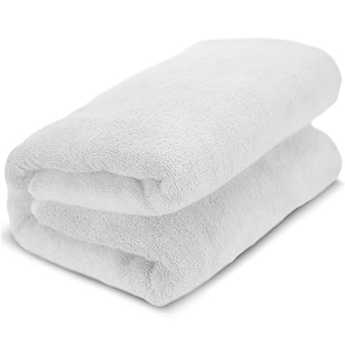 Towel Bazaar 100% Turkish Cotton Multipurpose Towels-Large Bath Sheet/Beach Towel/Bath Towel, Eco-Friendly (Oversized 40x80 inches, White)…