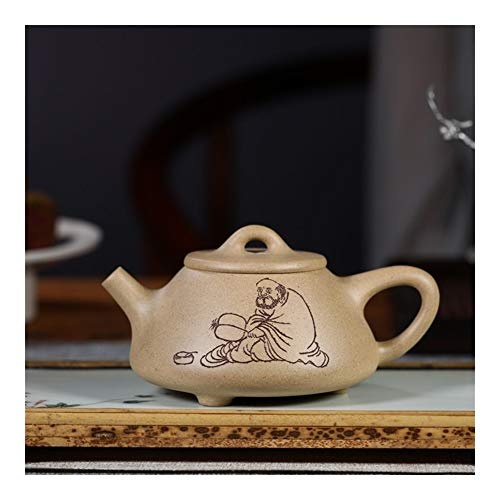 QinMei Zhou Ore segmento escombros tetera cucharón hogar no semi-manual tetera de vidrio set de té de un solo producto