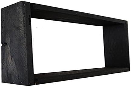 Boston Mall Wood Wooden Shadow Box Display - Black 9