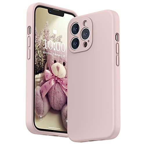 SURPHY Cover Compatibile con iPhone 13 Pro (6,1'), Custodia in Silicone per iPhone 13 Pro Cover Antiurto con Protezione Individuale per Ogni Lente Full Body Case per iPhone 13 Pro 2021, Rosa Sabbia