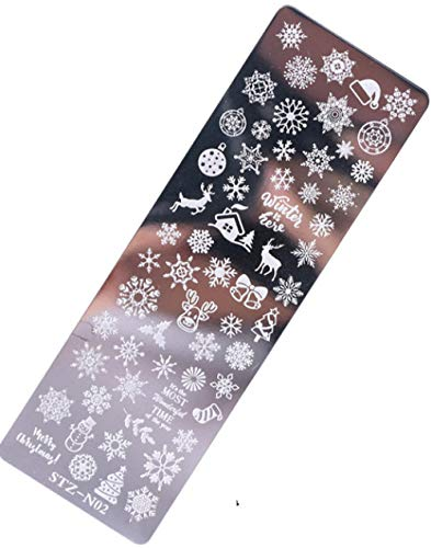 Nail Art Transfer Plate Nail Template Transfer Steel Plate Christmas
