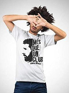 aTIQ Lionel Messi T-Shirt for Men Medium, White