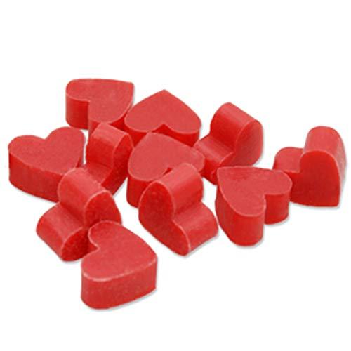 Florex Lot de 100 savons en forme de mini cœurs au lait de brebis Parfum Grenade