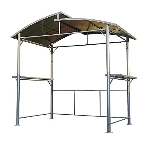 Angel Living 5840600 245x150x233 cm Grillpavilion, Gartenpavillon Garten Überdachung Grillhaus aus Aluminium und Eisen
