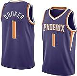 ATI-HSKJ Devin Booker 1# De Los Hombres De Jersey, NBA Phoenix Suns Ventilador Jersey Retro Bordados Malla De Baloncesto Ropa De Entrenamiento, Unisex Camiseta Sin Mangas,M(170~175cm/65~75kg)