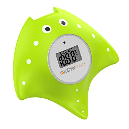 Product Image of the MotherMed Baby Bath Thermometer and Floating Bath Toy Bathtub Safety Temperature...