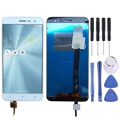 Mingxian Pantalla LCD y digitalizador Asamblea Completa for ASUS Zenfone 3 ZE520KL Z017D Z017DA Z017DB (Blanco) (Color : White)