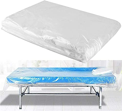Hzemci 100pcs Disposable Massage Table Sheets Waterproof Bed Cover for Massage Facial Waxing and Body Treatments, Perfect for Professional Beauty Salons, Spa Clubs, Massage Clubs (35.4' x 70.9')