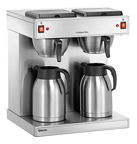 Bartscher Doppel Kaffeemaschine / Kaffeestation Edelstahl | 2 x 2 Liter