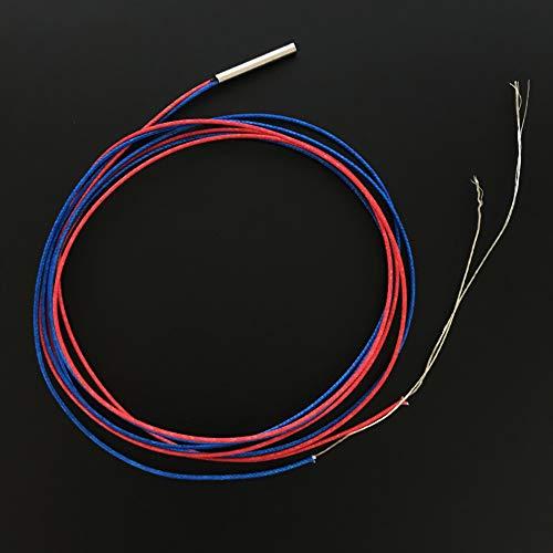 1 Stück 3D Drucker M3 PT100 Thermistor Patrone Temperatursensor m3 x 22 mm Sensorkopf mit 1 Meter Kabel für Mosquito Hot End Hotend Extruder