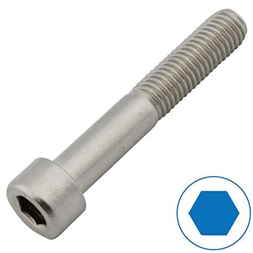 D2D | VPE: 10 Stück - Zylinderschrauben mit Innensechskant - M6 x 60 - DIN 912 - Edelstahl A2 V2A | Zylinderkopfschrauben