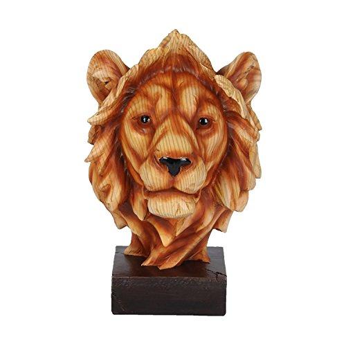 Wood Effect Lion Head Ornament