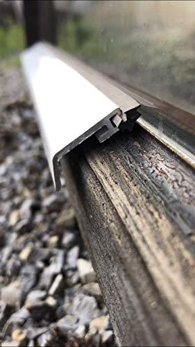 Flügelabdeckprofil für Holzfenster Wetterschutz Aluminium (100 cm)