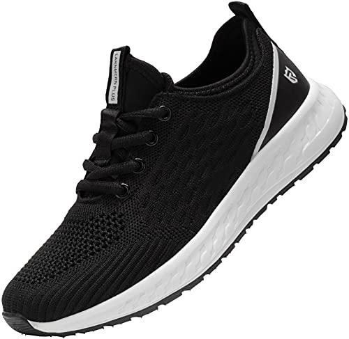LARNMERN PRO Zapatillas de Deporte Mujer Running Zapatos Ligero Transpirable Correr Gimnasio Casual Sneakers Comodo Gym Shoes Negro 38 EU