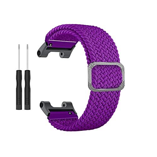 Correa de reloj trenzada de cuerda de nailon, adecuada para relojes HUA/MI Aa-mazfit T-Rex/Pro, equipado con herramientas, banda elástica ajustable para relojes inteligentes para hombre/mujer
