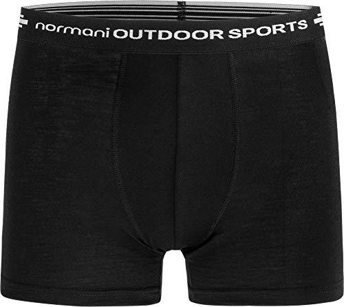 normani 1er Pack 2er Pack 3er Pack Herren Merinounterhose mit MULTIRABATT Merino-Boxershorts Funktionsunterhose - 100% MERINOWOOL Farbe 1er Pack Größe S