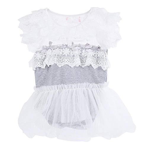 Baby overall katoen kind baby meisjes kant ruches rok overall kleine kinderen meisje comfortabele kleding kanten jurk zonder mouwen rok set jurk met kant 100 cm grijs