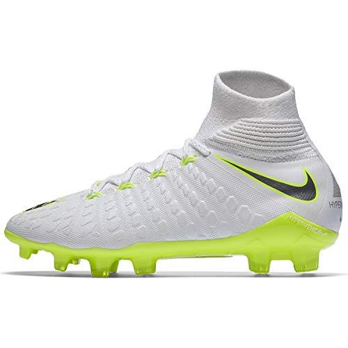 Nike Unisex-Kinder Hypervenom Phantom III Elite DF FG Fußballschuhe, Weiß (weiß/grau/gelb weiß/grau/gelb), 38.5 EU