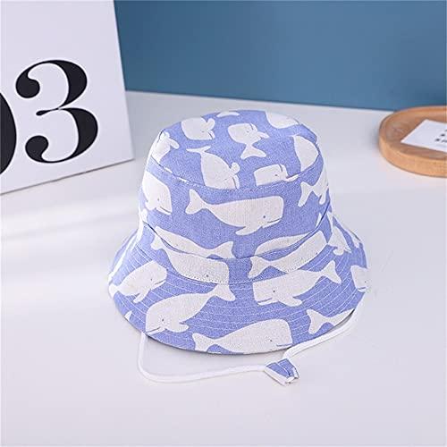 Sombrero para nios Gorra con Estampado de Verano para nios y nias Gorros para el Sol para nios Sombreros para bebs de Dibujos Animados de 6 Meses a 8 aos-Blue wale-5-54cm 5-8 Years