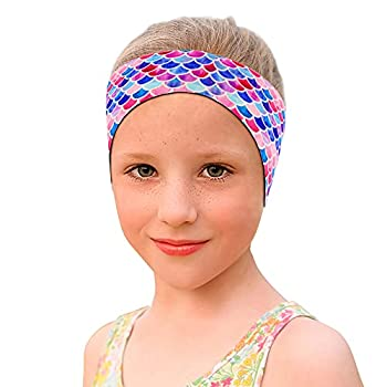 ZOEKIM Swimming Headband for Kids & Adults Cute Swimming Ear Band Adjustable Swim Headband Keeping Water Out Ear Protection Headband for Surfing Bathing Kayaking