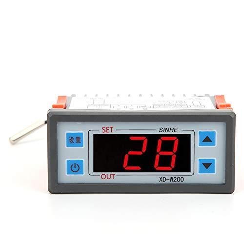 Controlador de temperatura de microordenador, controlador de temperatura ABS digital, controlador de termostato, para calentador de agua AC220V XD-W200