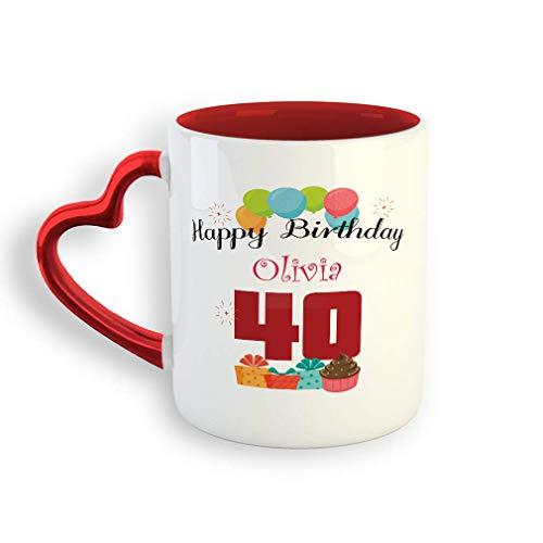 VTXINS Custom Birthday Cake Balloons Ceramic Valentine's Day Coffee Mok Holidays 11 Oz