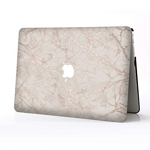BERYLX Laptops Case Cover for Macbook Pro 13 inch Retina,Gray Pink Marble Pattern Printed Design Hard Plastic Protection Shells Case Covers Compatible Macbook Pro 13' Retina A1425/A1502
