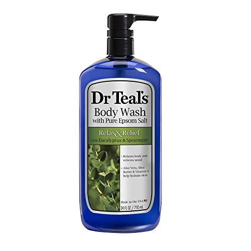 Dr Teal's Pure Epsom Salt Body Wash Relax & Relief with Eucalyptus & Spearmint 710 ml