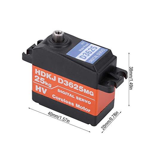 RC Servo, 1/10 1/8 wasserdichte High Speed Drehmoment 25 KG Metall Getriebe Digital RC Servo Motor für RC Offroad Rennwagen
