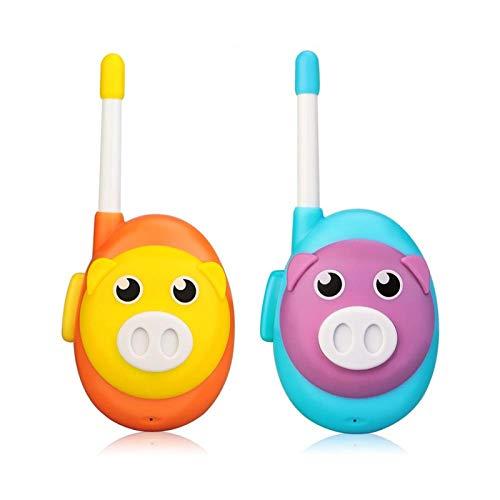 AMZSELLER Walkie Talkie Walkie Talkie niños 2 unids Lindo Cerdo Dos Color walkie-talkies Regalo de cumpleaños Juguete walkie Talkie (Color : Orange)