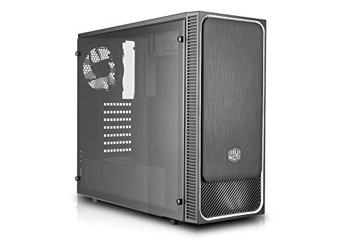 Cooler Master MasterBox E500L Silber Seitenfenster PC-Gehäuse, LED-Lüfter, Midi-Tower, ATX