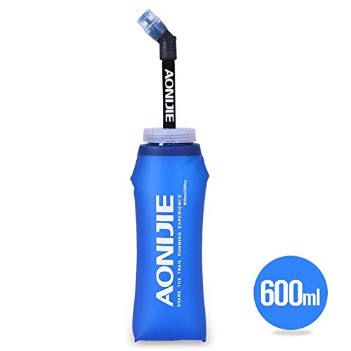 Suppyfly Sport-loopfiets, zachte tas voor waterfles, zachte TPU-waterzuiger met lange stro-bellenzakken