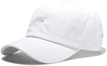 Handcuffs Cotton Plain White Baseball Cap Adjustable for Men/Women