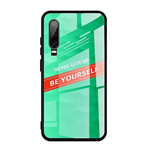 Funda compatible con Huawei P20 Pro, P20 Lite Nova 3e, funda de teléfono móvil ultrafina, parte trasera de cristal templado 9H resistente, marco de silicona suave de TPU (P20 Lite Nova 3e, 03)