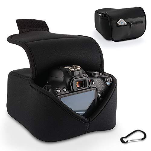 Custodia per Fotocamera DSLR Custodia Protettiva Borsa per Attrezzatura Fotografica Digitale con Protezione in Neoprene (Nero) per Nikon, Canon, Olympus, Panasonic, Pentax, Samsung, Sony Eccetera.