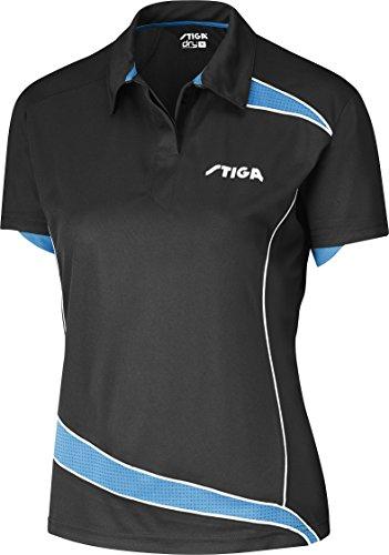 Tenis de Mesa Ropa: Camisa Stiga descubrimientos–Negro/Diva Lady Fit Tamaño S