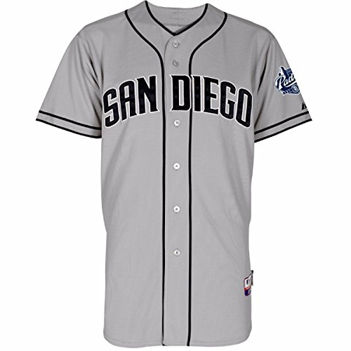 Majestic San Diego Padres MLB Men's Gray Authentic On-Field Cool Base Jersey (48)