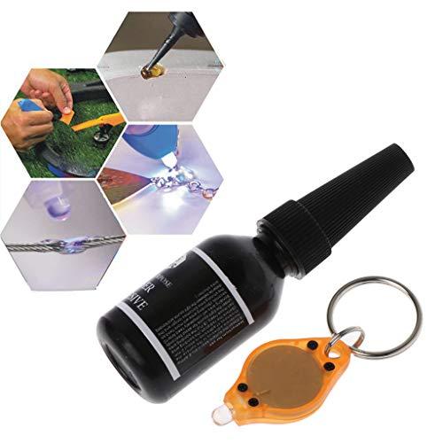 Colla da Luce UV BIILLL 5 Second Fix 15ml con legante Resistente alle lampade UV per vetri ceramici