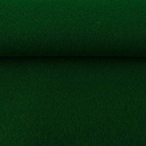 GGM ggmü Filz Taschenfilz 4mm, einseitig beschichtet, 0,5 lfm, 102 cm breit (dunkel grün)