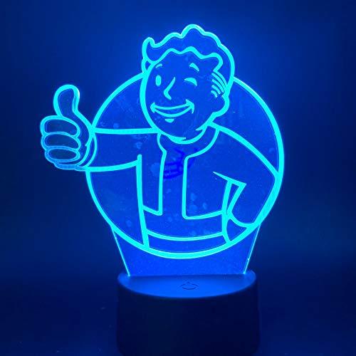 3D LED Nachtlampje Spel Kleurverandering Van De Stralingsbescherming Muur Cadeau Van Nachtlampje Aan Kinderen Kinderen Slaapkamer Decoratie Tafellamp 3D Nachtkastje