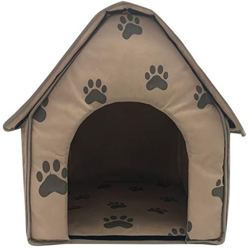 LOSVIP Faltbares Hundehaus-Haustier-Bett-Zelt-Katzen-Hundehütte-tragbarer Reise-Welpen-Innenmatte