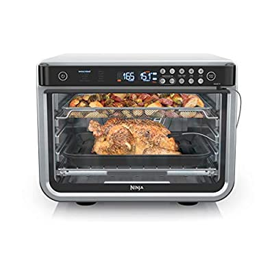 Ninja DT251 Foodi 10-in-1 Smart Air Fry Digital Countertop Convection Toaster Oven with Thermometer XL Capacity and a Stainless Steel Finish