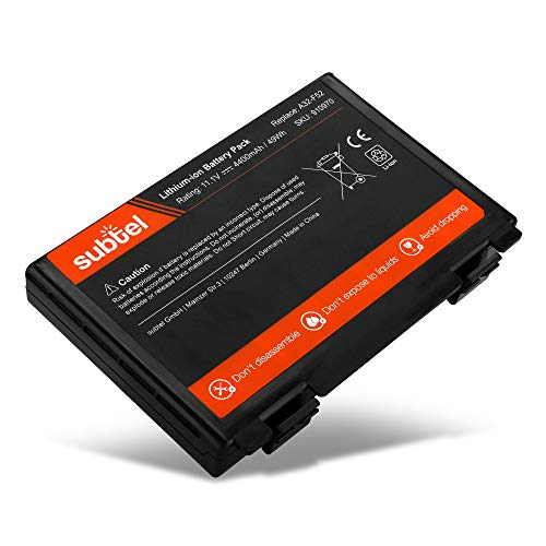 subtel® Qualitäts Akku 4400mAh kompatibel mit ASUS F52 / F82 / K40 / K50 / K51 / K60 / K61 / K70 / P50 / P81 / Pro5C A32-F52 / A32-F82 Notebookakku Laptopakku Ersatzakku Batterie